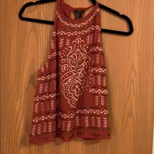 High color beaded/embroiders tank top - size SM